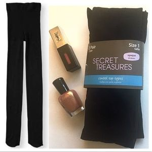 NWT 2 Pack Opaque Control Top Tights - Black